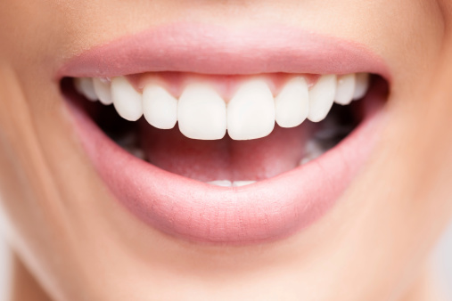 Smile that showing clean well aligned teeth